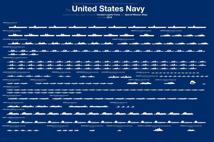 Here's the Entire U.S. Navy Fleet in One Infographic  - Esquire.com