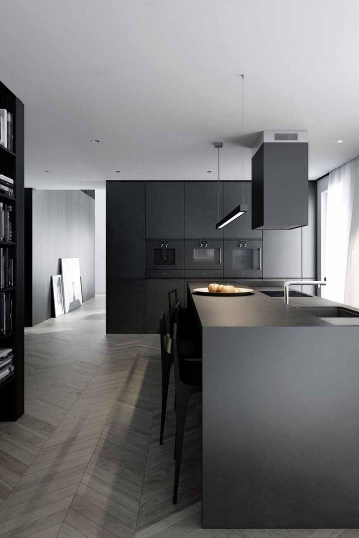 Kuchnia na wymiar w czarnym kolorze