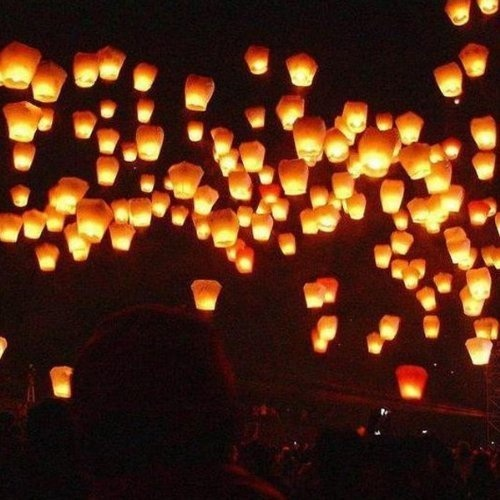 10 Pack Fire Sky Lantern Flying Paper Wish Balloon