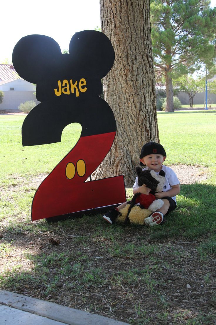 DIY Mickey Mouse Birthday Number #DIY #Disney #Parties #Party #Numbers #Decorations #Decorate #Decor