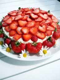 Bildresultat för jordgubbstårta