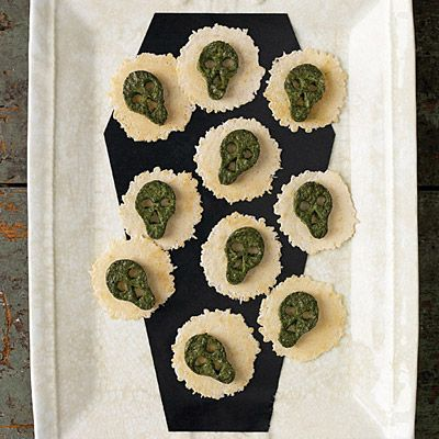 Spinach Ricotta Skulls