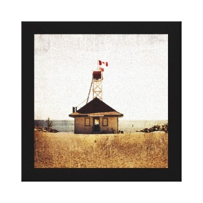 Lifeguard house, the beaches, Toronto Stretched Canvas Print by olga hutsul