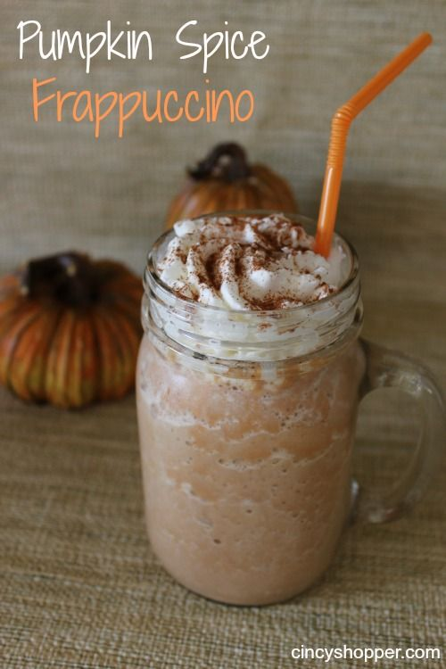 pumpkin-spice-frappuccino: I actually made this and it's pretty good. I didn't chill the coffee I stuck it in the fridge and used a bunch of ice cubes the only thing I would change is I think I may have put too much spice but over all it's delicious!