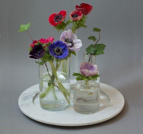 Marble plates by Swedish brand Stenhuggardottern  | via styleandcreate.com