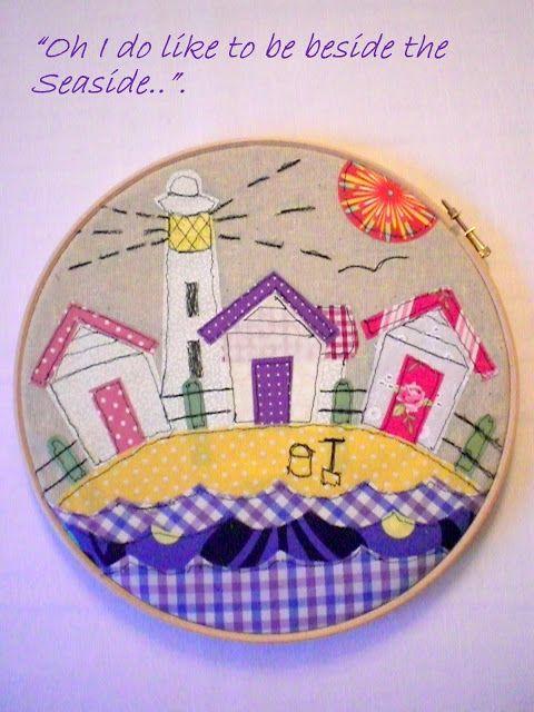 Il Magpie miscelánea di s: Embroidery Hoop Art - Fase 2 (Oh, nos gusta estar al lado de la playa!)
