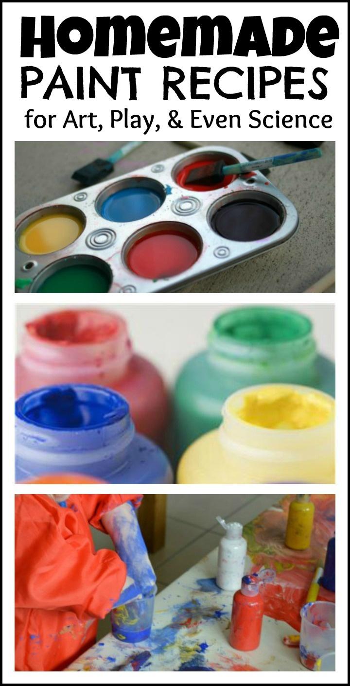 Homemade paint recipes baby safe paints finger paints fizzing paints face paint