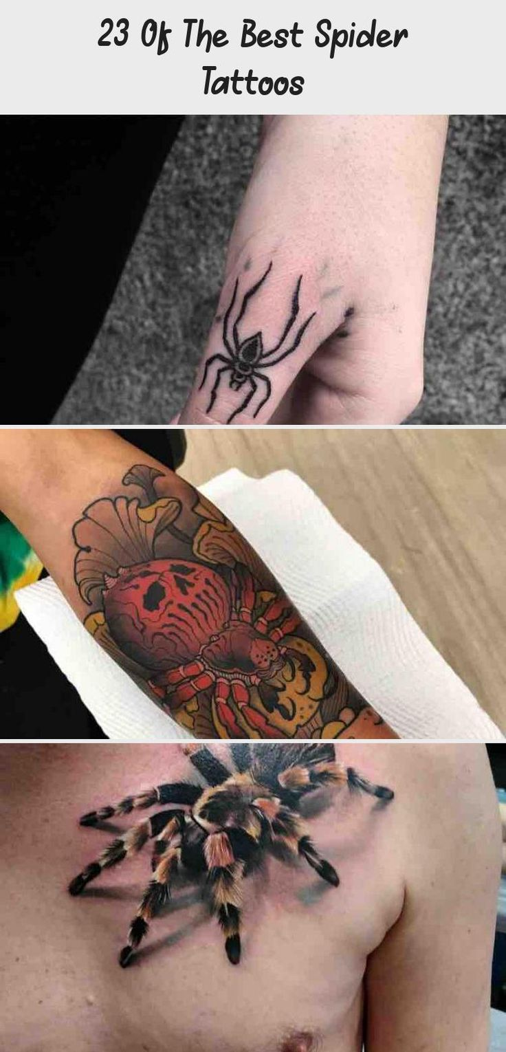 23 of the best spider tattoos tattoos and body art in