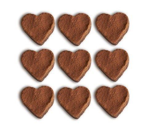 Шоколадные бисквитные сердца