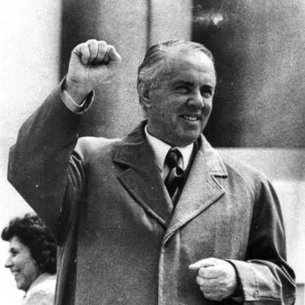 Enver Hoxha was the leader of Albania from the end of World War II until his death in 1985, as the First Secretary of the Party of Labour of Albania.