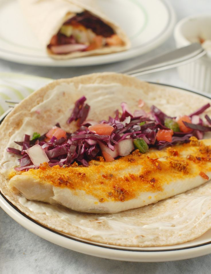 Chipotle Baked Fish Tacos with Pico Slaw by Alison's Allspice