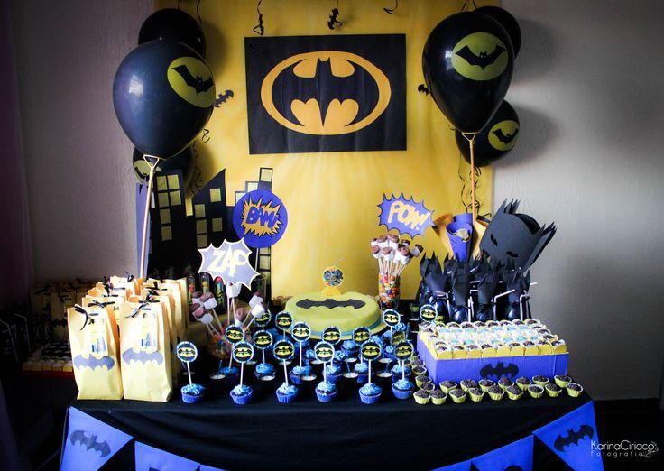 aniversário tema batman