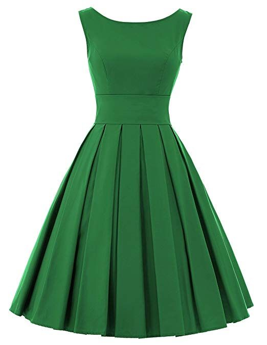 262a350eed8 Belle Poque 50s Style Audrey Hepburn Classic Dress Sleeveless Rockabilly  Dress BP091-5(M)