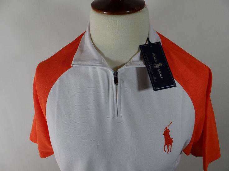 NWT Ralph Luaren Polo Golf Rugby Orange Short Sleeve Shirt Men Shirt Large L #RalphLauren #PoloRugby