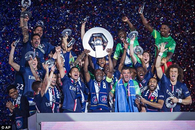 PSG wins Ligue 1 in 2015.