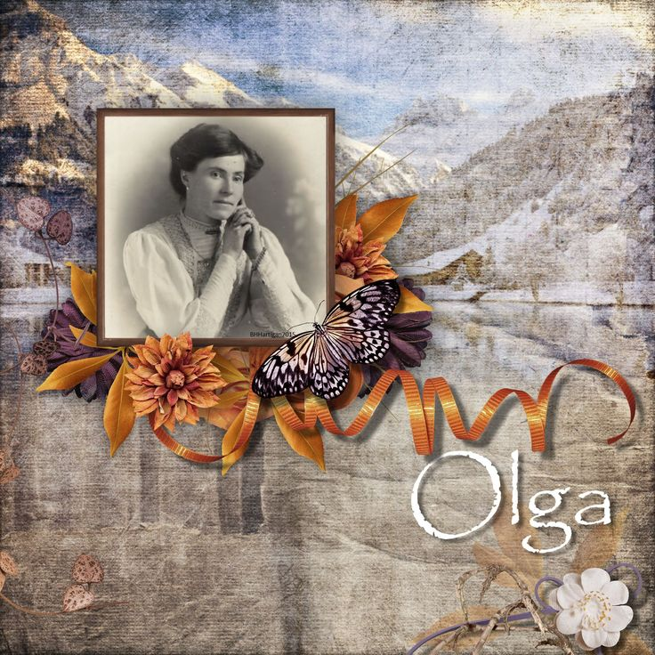 A relative by marriage, Olga was born in Switzerland and came to live in Wales.
