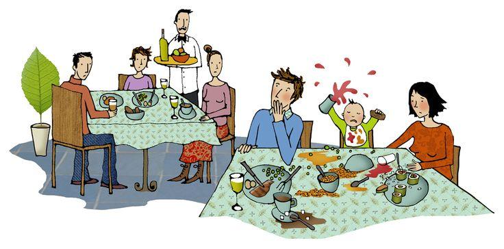 #emmabrownjohn #newdivision #illustration #digital #line #stylised #family #restaurant #baby #food