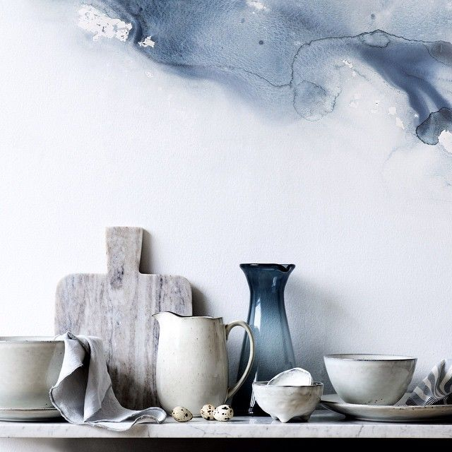 """""""The porcelain tableware collection named Nordic is the all-time bestseller of Broste Copenhagen. The rustic plates, bowls, mugs, and jugs are now launched…"""""""