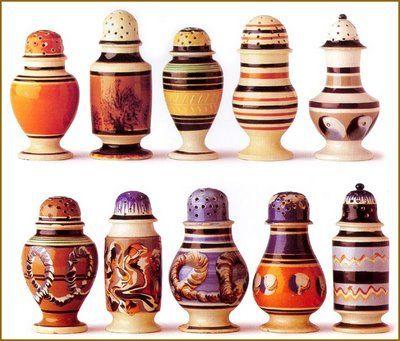 Mochaware Pepper Pots