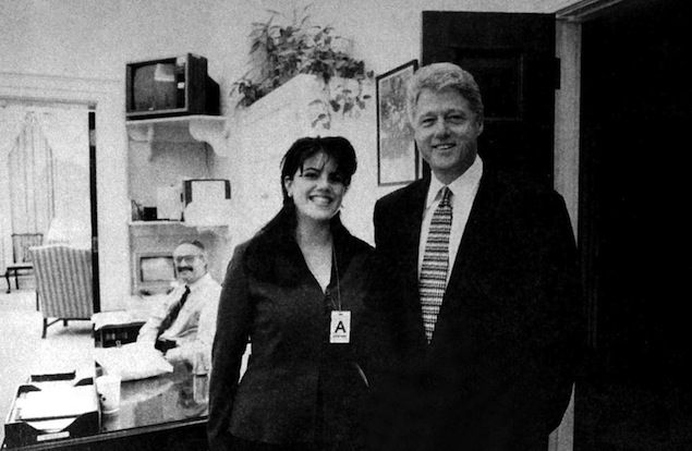 Monica Lewinsky gets to know Bill Clinton in the White House, 1995