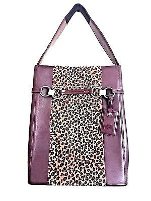 Women In Business Laptop Bag Moderno Brown Shoulder Leopard Print Vertical