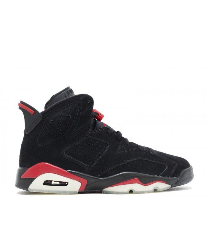 17447aa63778 Air Jordan 6 Retro Black Varsity Red 384664 061