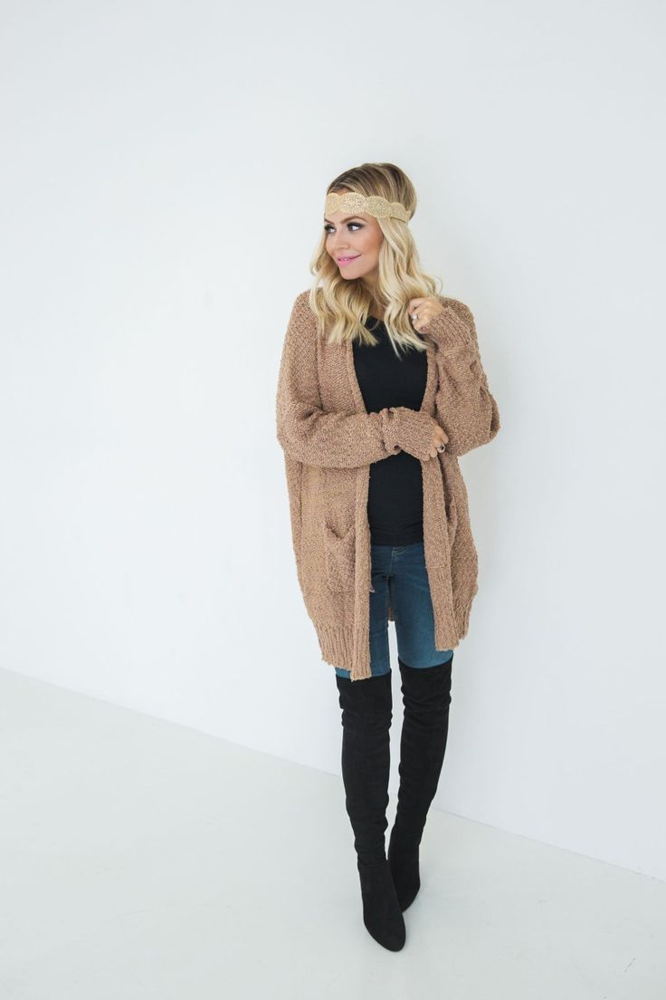 Over the knee boots and over-sized cardigans! Must haves for fall!
