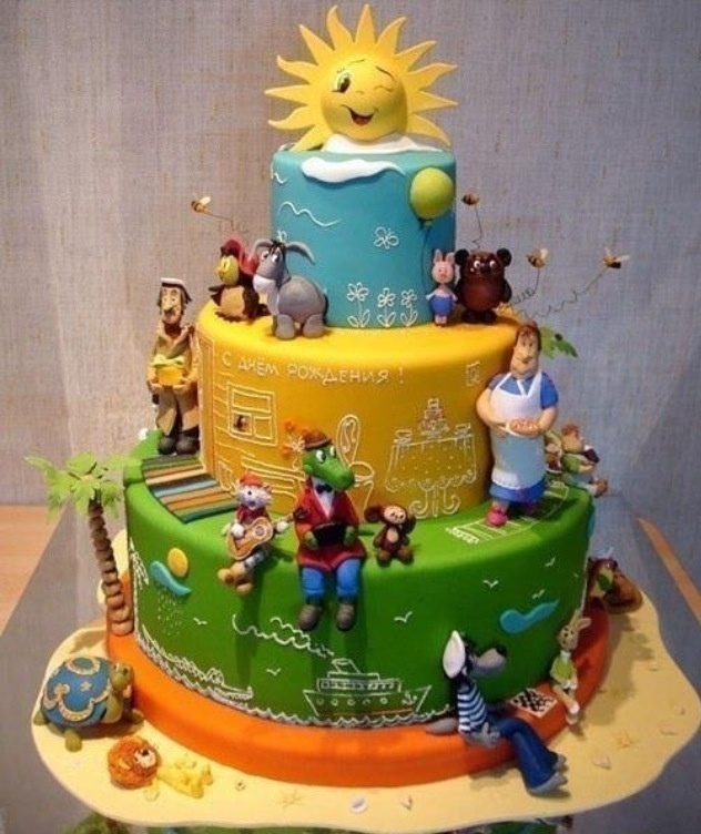 Russian cartoon themed cake!