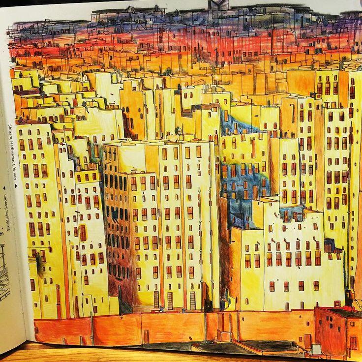 Finished Product Adultcoloringbook Stevemcdonald Fantasticcities Art Stevedmcdonald City ScapesColoring BooksAdult