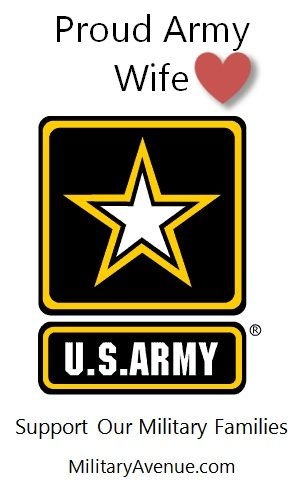 Proud US Army Wife - Created for http://facebook.com/MilitaryAvenue but yours to share