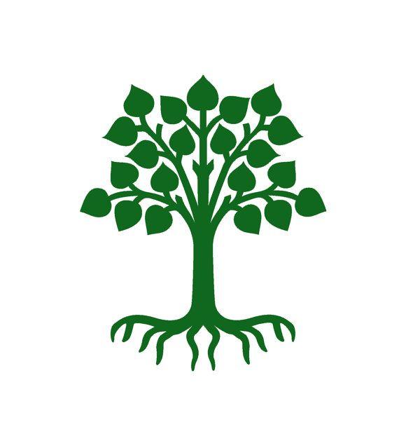 Albero della vita, albero sacro decalcomanie, albero radici vinile adesivo, adesivo rimovibile