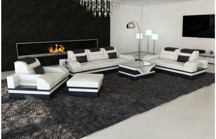 #Design #Leder #Couchgarnitur PARMA mit #LED Beleuchtung - Exklusiv bei #Sofa Dreams!