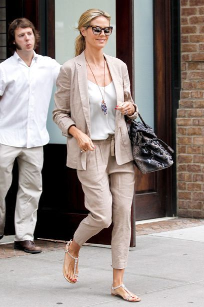Heidi Klum - love this relaxing outfit