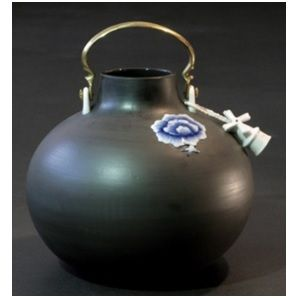 Thai Blue round Vaas