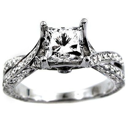 25 best ideas about princess cut wedding rings on
