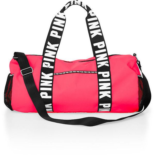 Duffle Bag ($30) ❤ liked on Polyvore featuring bags, luggage and pink