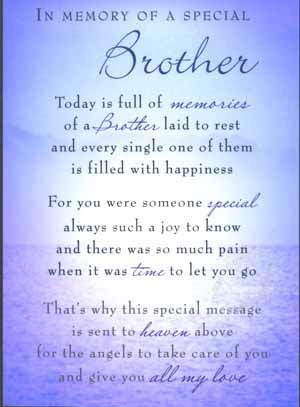 christian in loving memory poems for brother