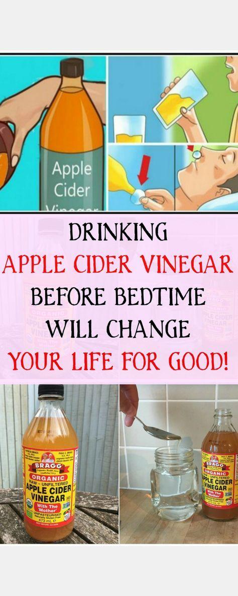 I drink apple cider vinegar before bed