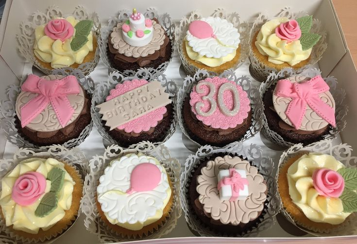 Birthday cupcakes by Dawn's Cupcake Couture