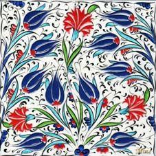 Osmanlı Saray Çinileri İznik Duvar Panoları Turkish Tile Art Karoları 20-20