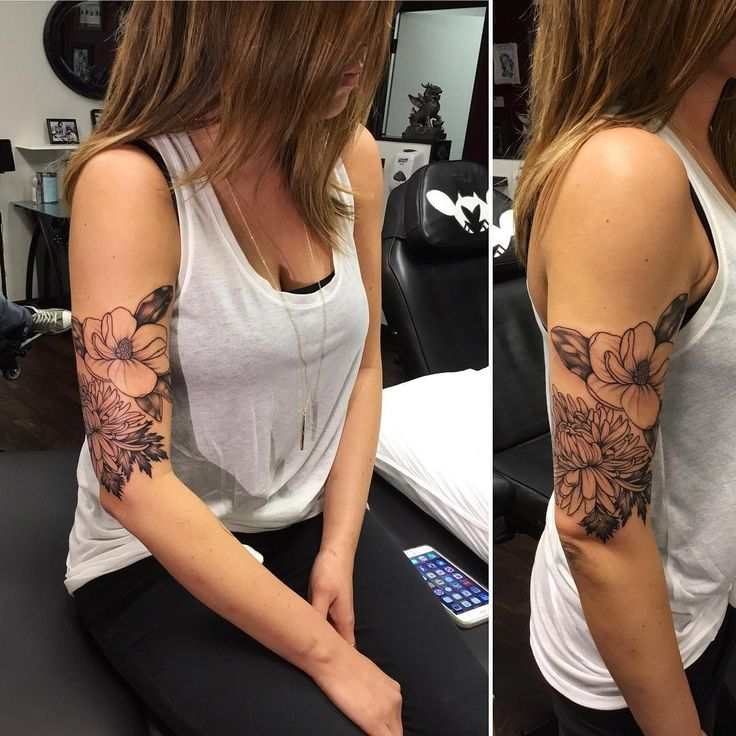 """Floral sleeve we're working on. Still to come, more shading detail and more flowers down the forearm in our next session."""