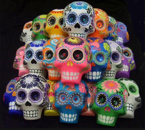 dia delos muertos | Dia De Los Muertos Skulls
