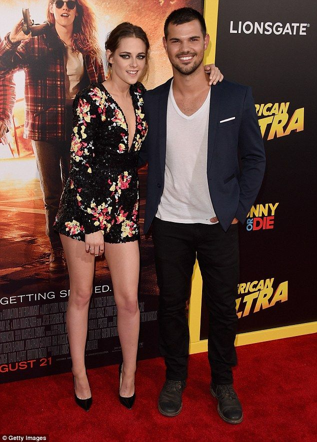 Wolfpack reunited! Kristen Stewart took her former Twilight co-star Taylor Lautner along ...