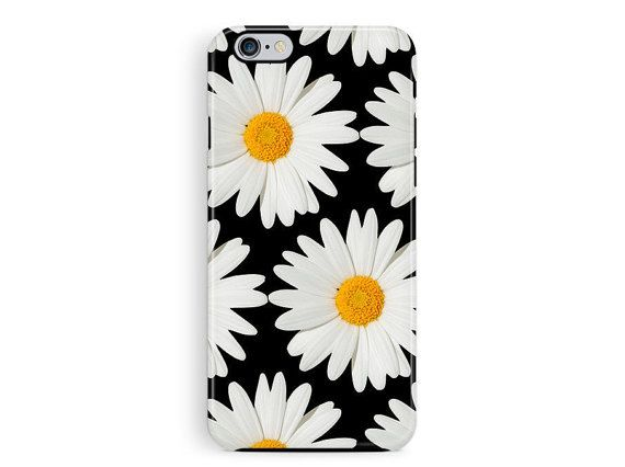 Protective iPhone 6 Case, Protective iPhone 5s Case, Daisy Phone Case, iPhone 5 Case, Floral Phone Case, Gifts for Her, Bumper iPhone Covers
