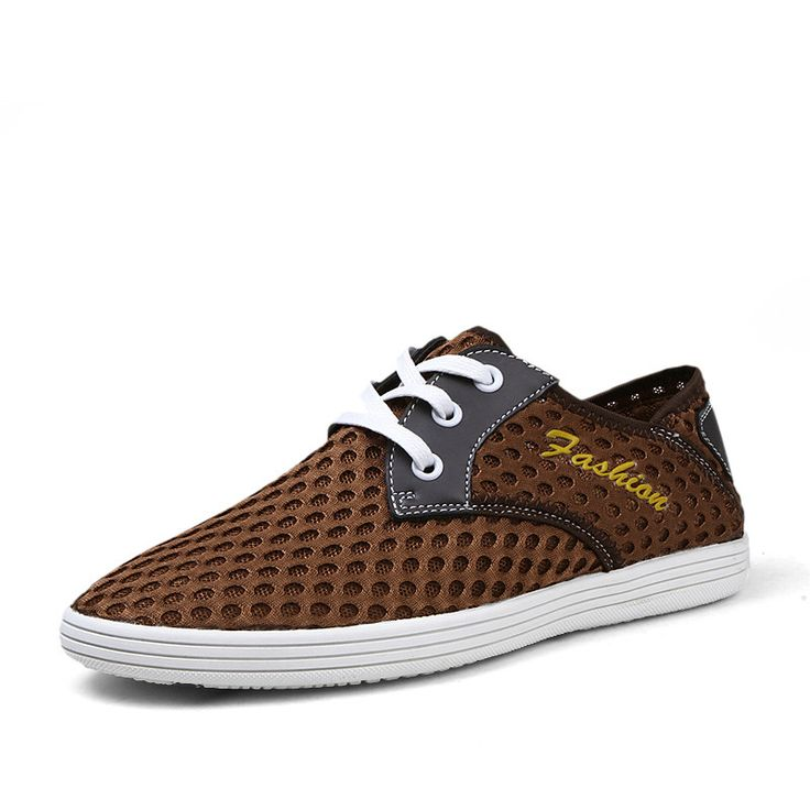 Fashion Men's Flats Chaussures 2015 Men Summer Shoes Breathable Zapatos For Man Size 38 to 44 Blue Brown Gray
