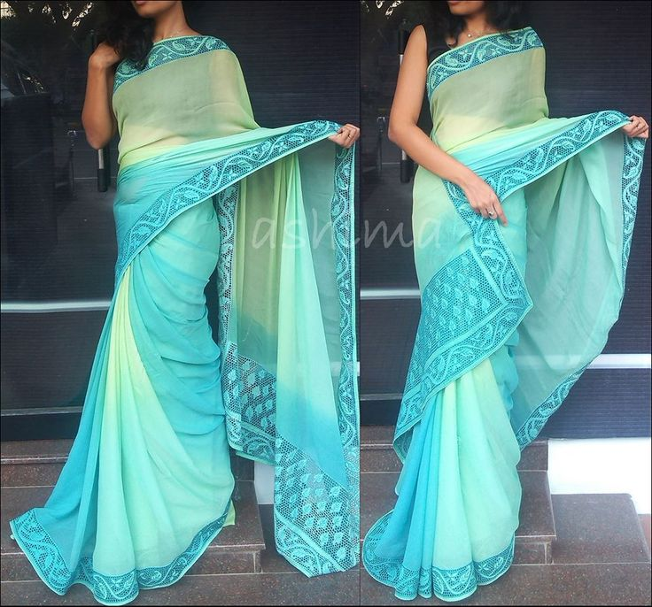 Code 2504152 Shaded Chiffon With Cut Work Free shipping to any courier destination in India Online payments through PayU - Message Saree Code, Email Id & Mobile number in our FB Inbox