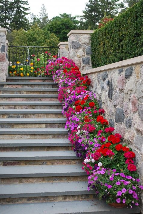 Colourful stairs, beautiful!