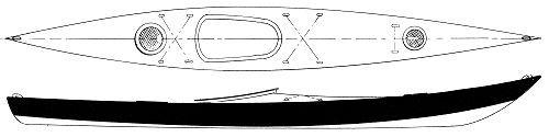 17' Sea Kayak - S&G touring kayak-boatdesign