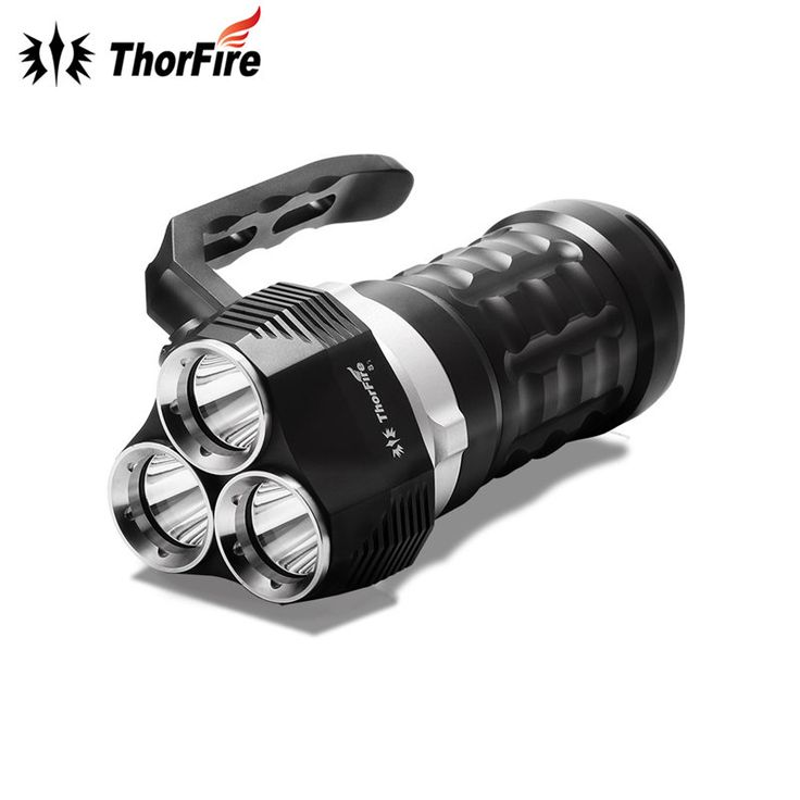 ThorFire TD34 2000 Lumens 3 modes 3 x XPL LED Diving Flashlight Dive light Waterproof Searchlight Underwater 70m 18650 Torch #Affiliate