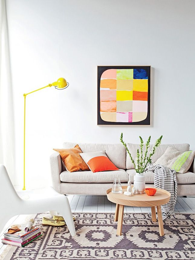 Cool whites and grays tone down neon colors in your home.
